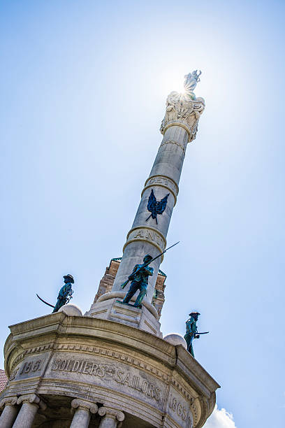 civil war monument at lackawanna county courthouse square - scranton pa stock photos and pictures