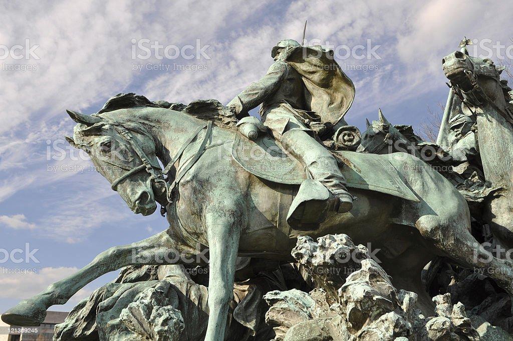 Civil War Monument in Washington DC stock photo