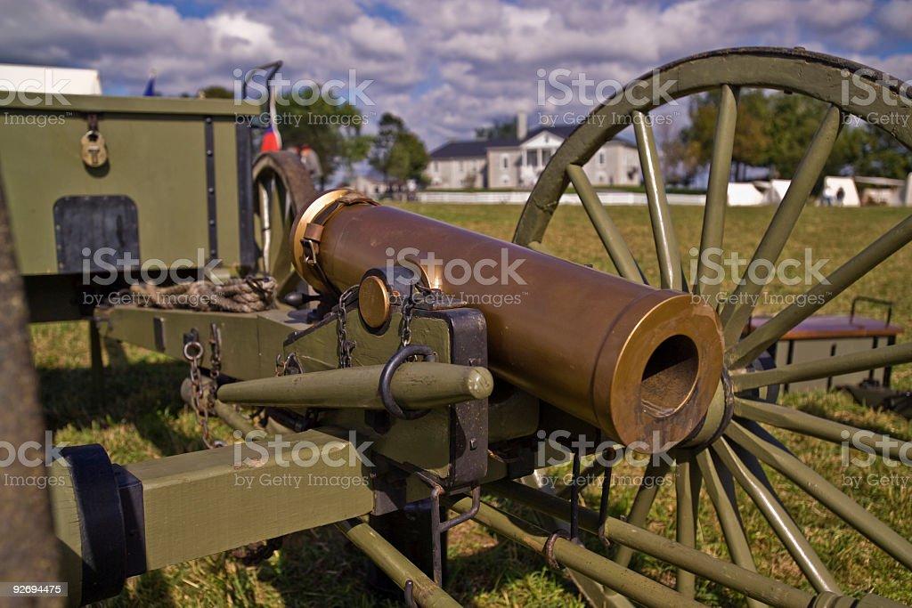 Us Civil War Mountain Howitzer Artillery Close Up Stock