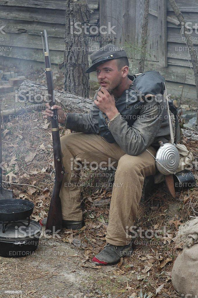 Civil War Reenactor stock photo