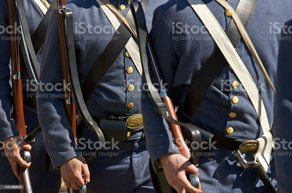 US Civil War re-enactors stock photo