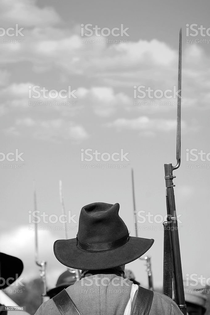 Civil War Soldier royalty-free stock photo