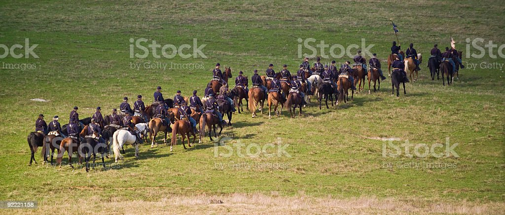 US Civil War Union Cavalry in Shenandoah Valley stock photo