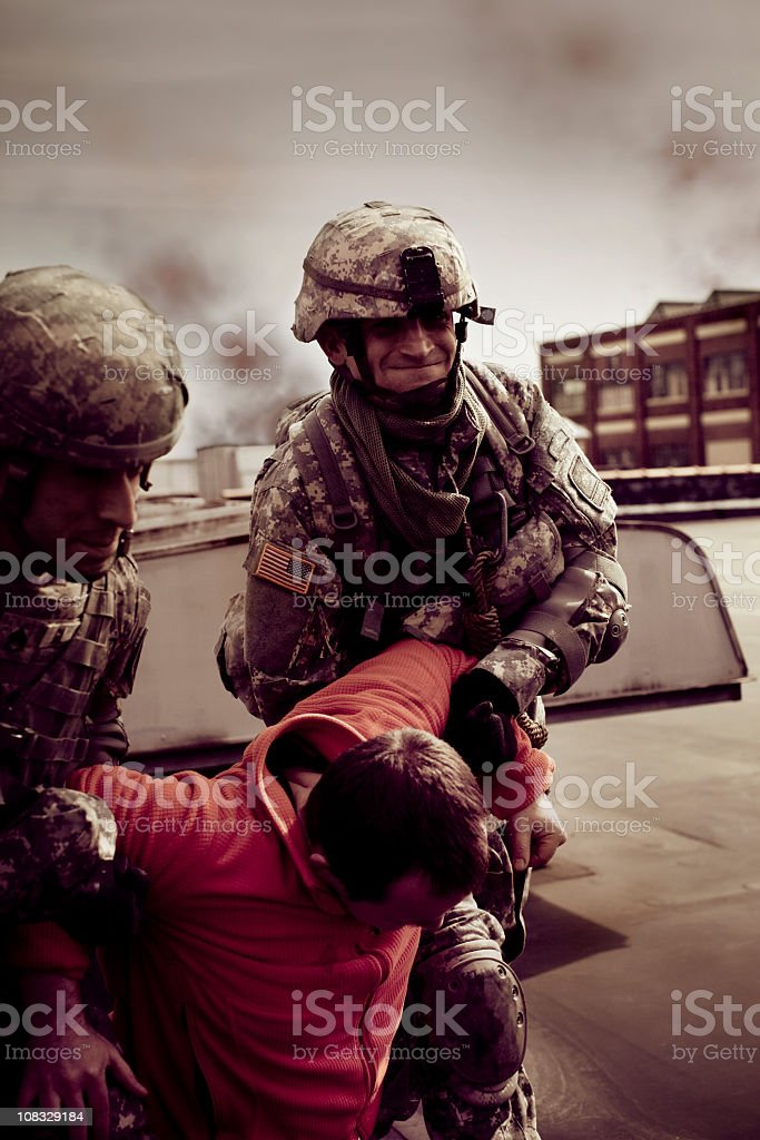 Civilian Rescue royalty-free stock photo