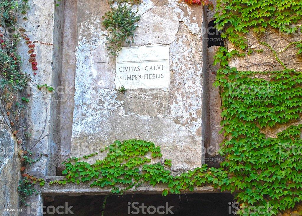 Civitas Calvi - Semper Fidelis stock photo