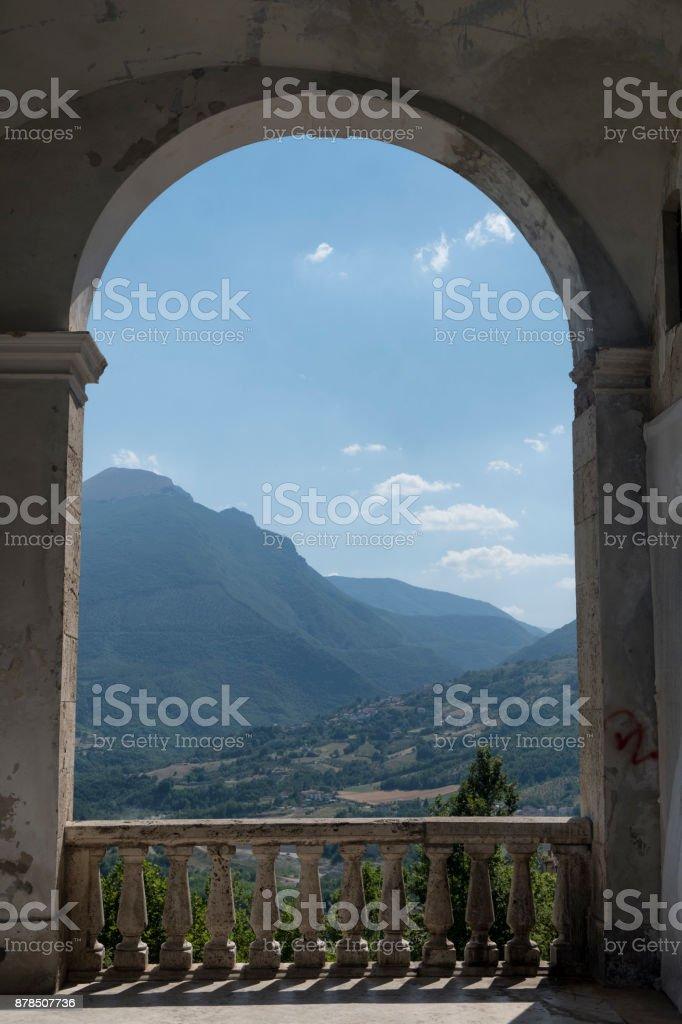 Civitella del Tronto (Teramo, Abruzzi, Italy) stock photo