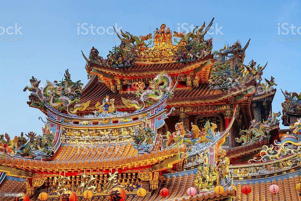 Ciyou Temple, Taipei - Taiwan. stock photo