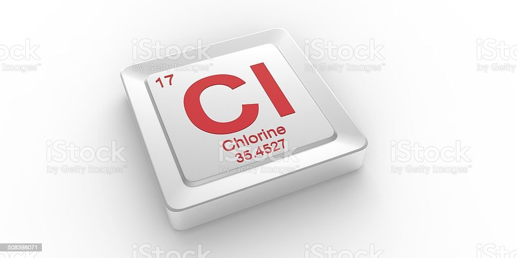 Cl Symbol 17 Material For Chlorine Chemical Element Stock Photo