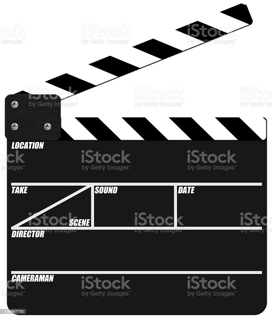 Clab Board (clapper) royalty-free stock photo