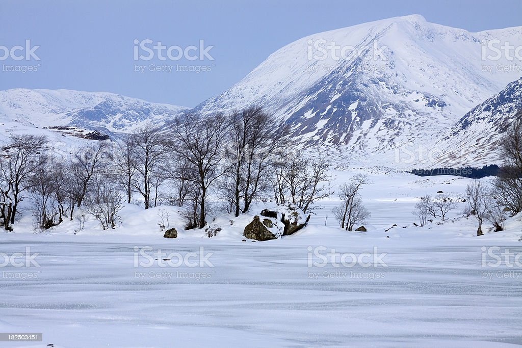 Clach Leathad and the Black Mount, Rannoch Moor, Scotland. stock photo