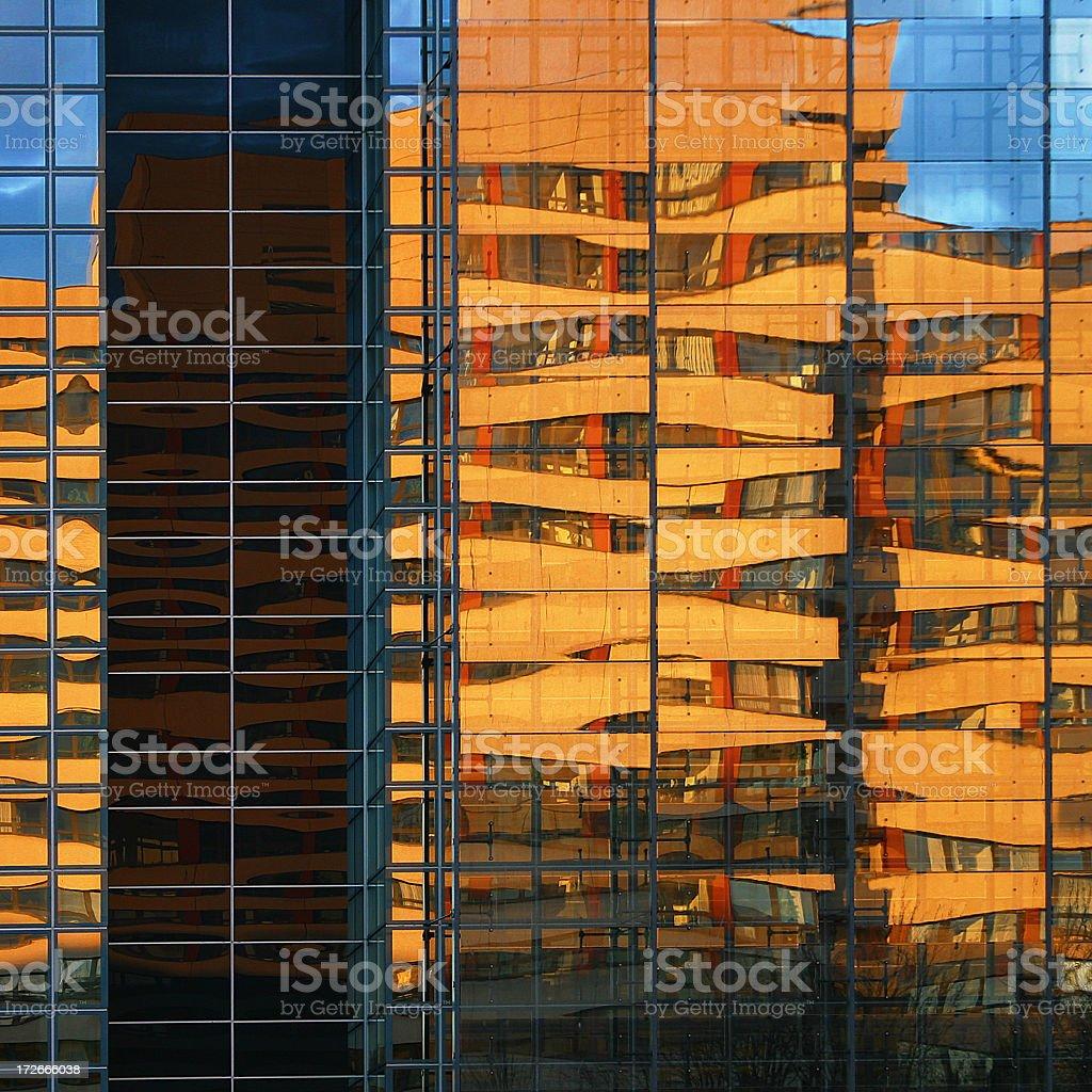 Cladding Reflections royalty-free stock photo