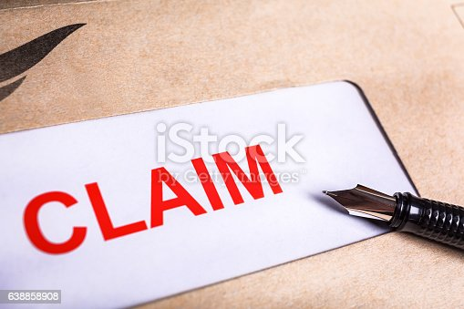 1128824554 istock photo Claim form in brown envelope, can use insurance concept 638858908