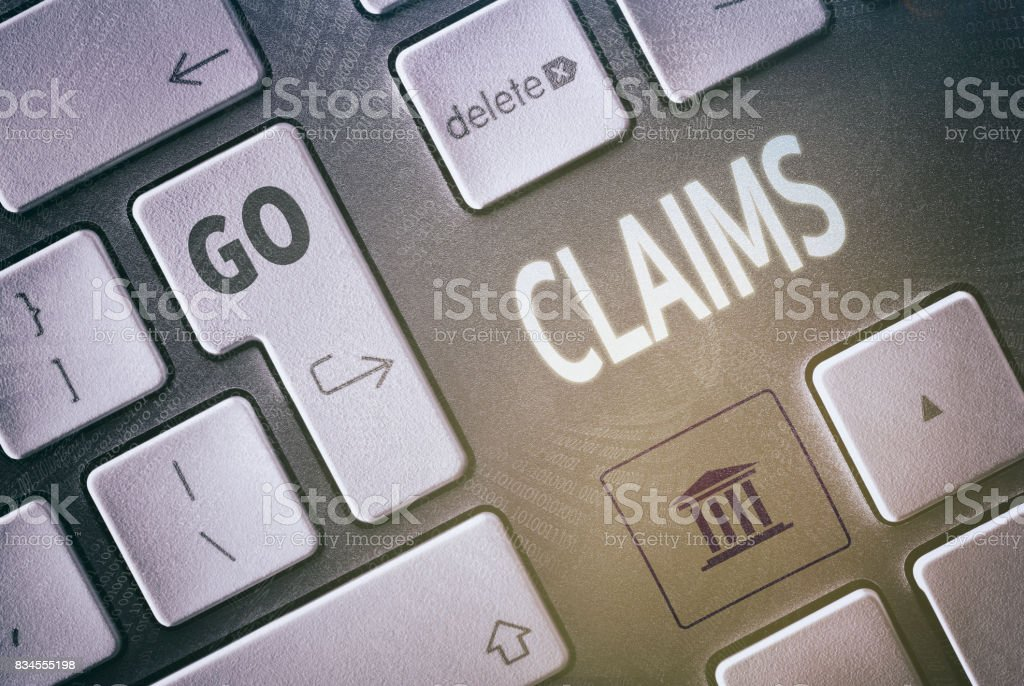 Claims Concept stock photo