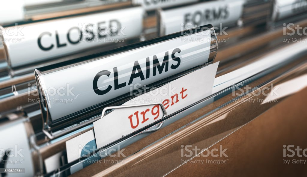 Claims Management Department stock photo