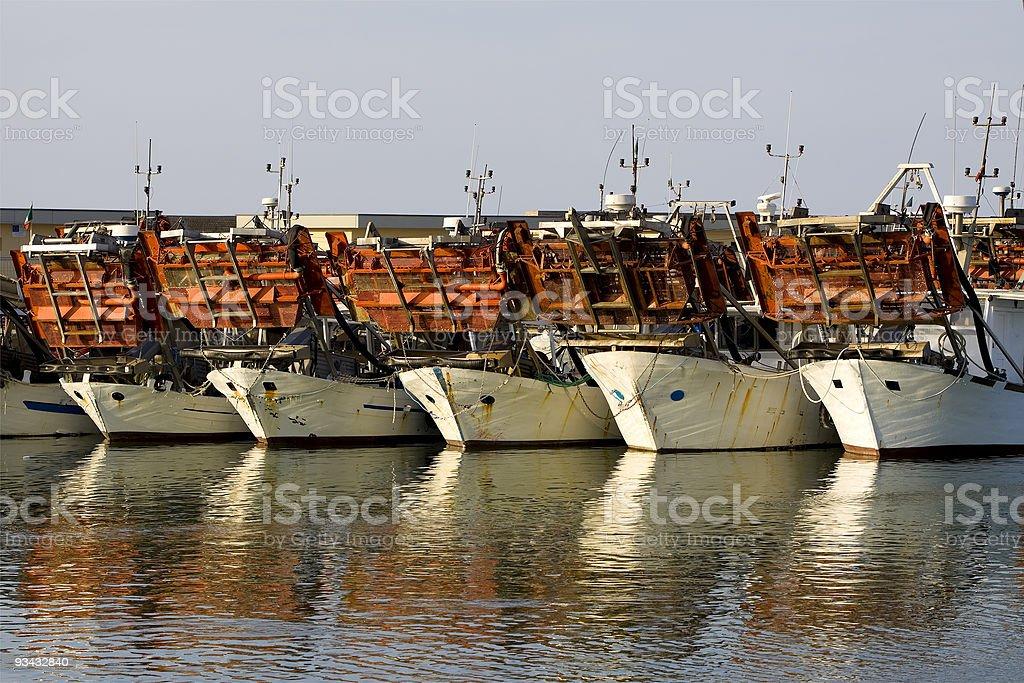 Muschel-Boote Lizenzfreies stock-foto