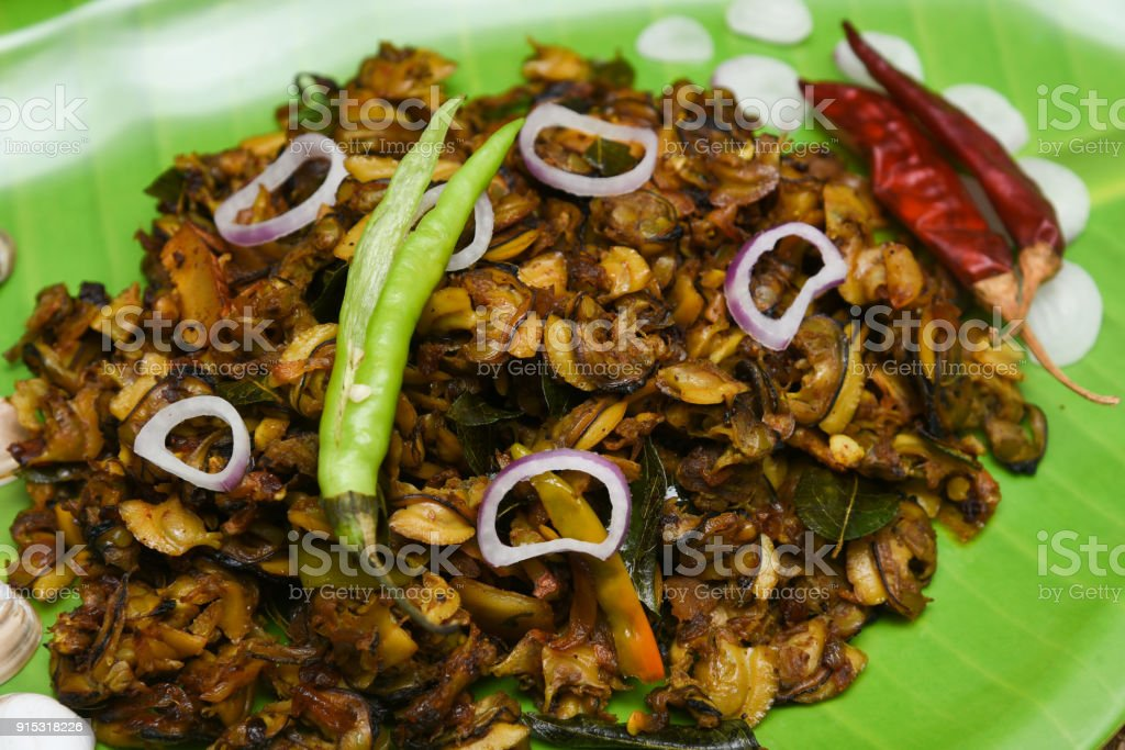 Clam or shell fish roast curry south indian seafood recipe kerala clam or shell fish roast curry south indian seafood recipe kerala style kakka erachi with coconut forumfinder Gallery