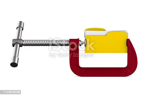 istock clamp with folder on white background. Isolated 3D illustration 1144829206
