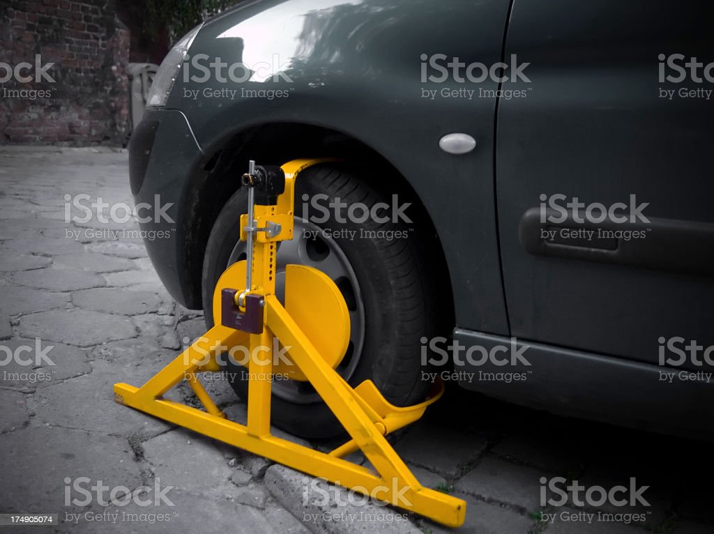Clamped! stock photo