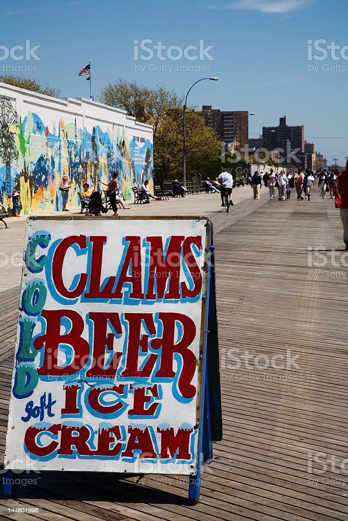 Clams, Coney Island NY royalty-free stock photo