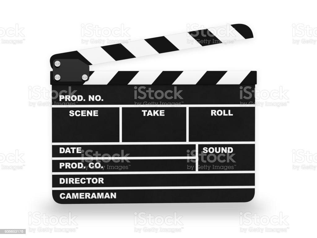 Clap action cinema stock photo