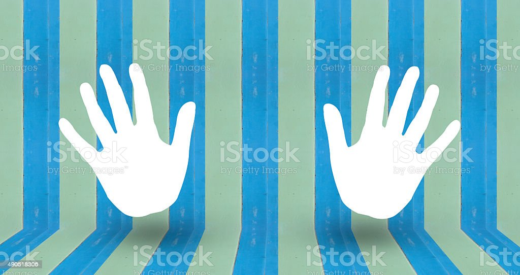 clap sign on blue pastale wall wood royalty-free stock photo