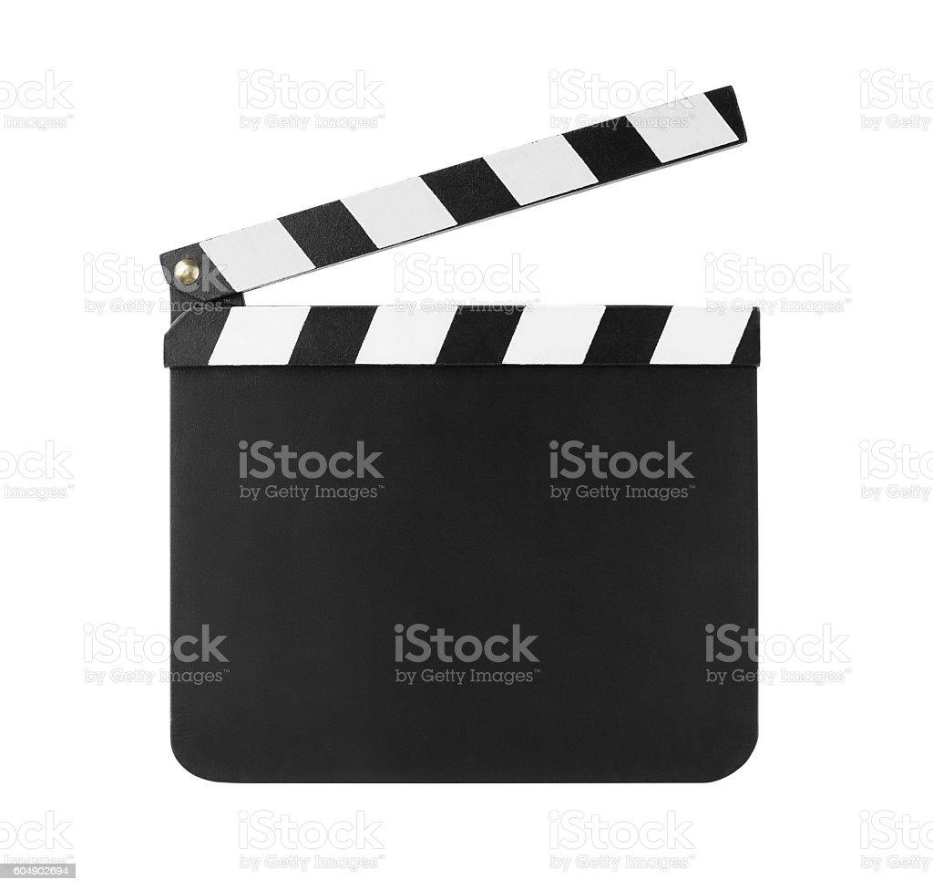 Clapboard isolated on white - Photo