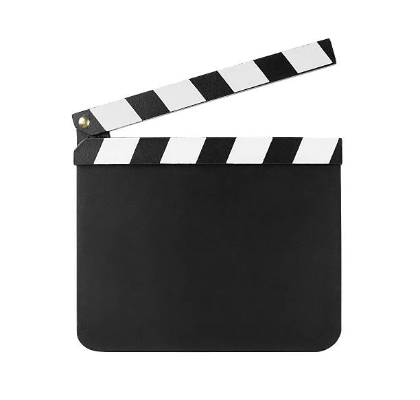 Clapboard isolated on white stock photo