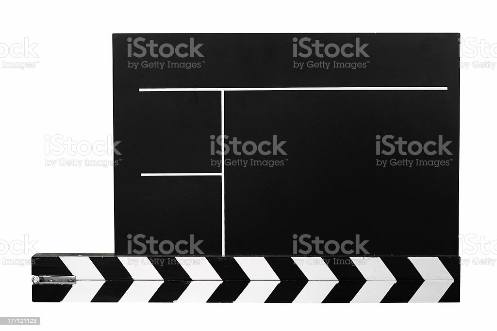 Clapboard w/ Path royalty-free stock photo