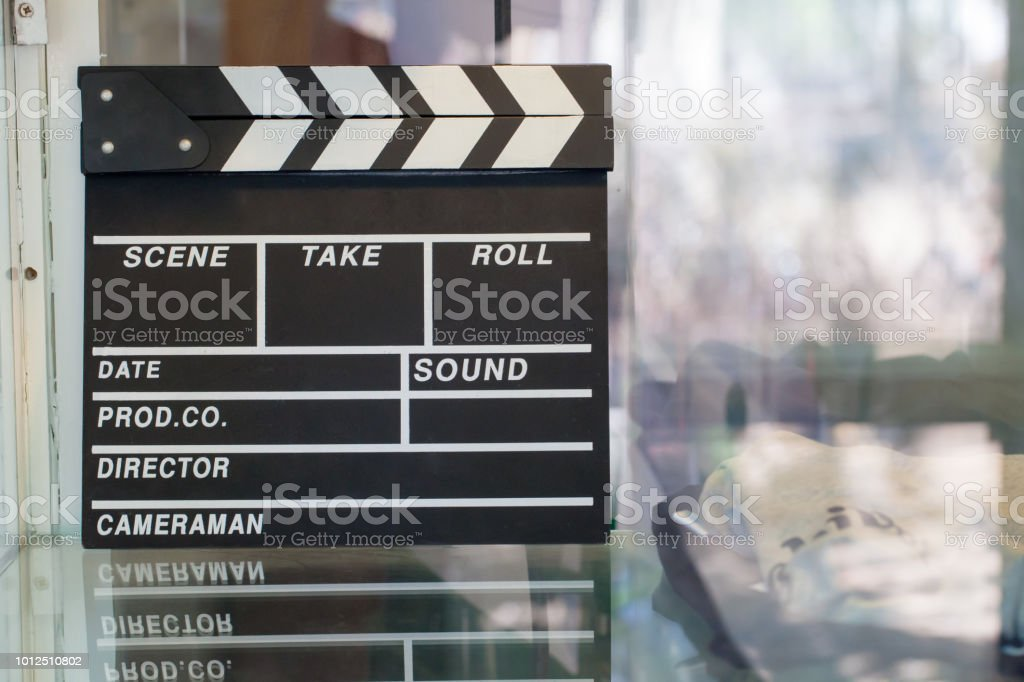 clapper board blank clapperboard for background