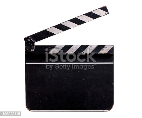 istock Clapperboard isolated on White Background 899222418