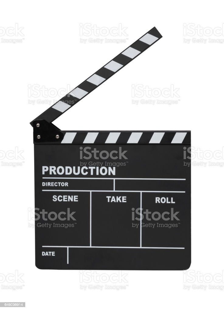 Clapperboard isolated - Photo