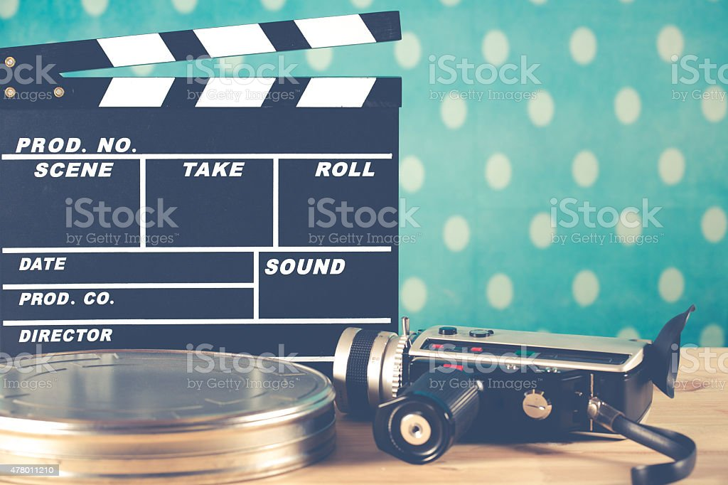 Clapperboard with your camera stock photo