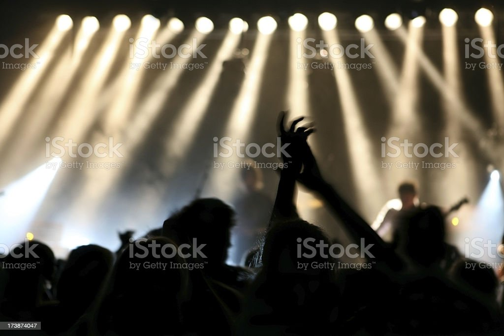 Clapping audience stock photo