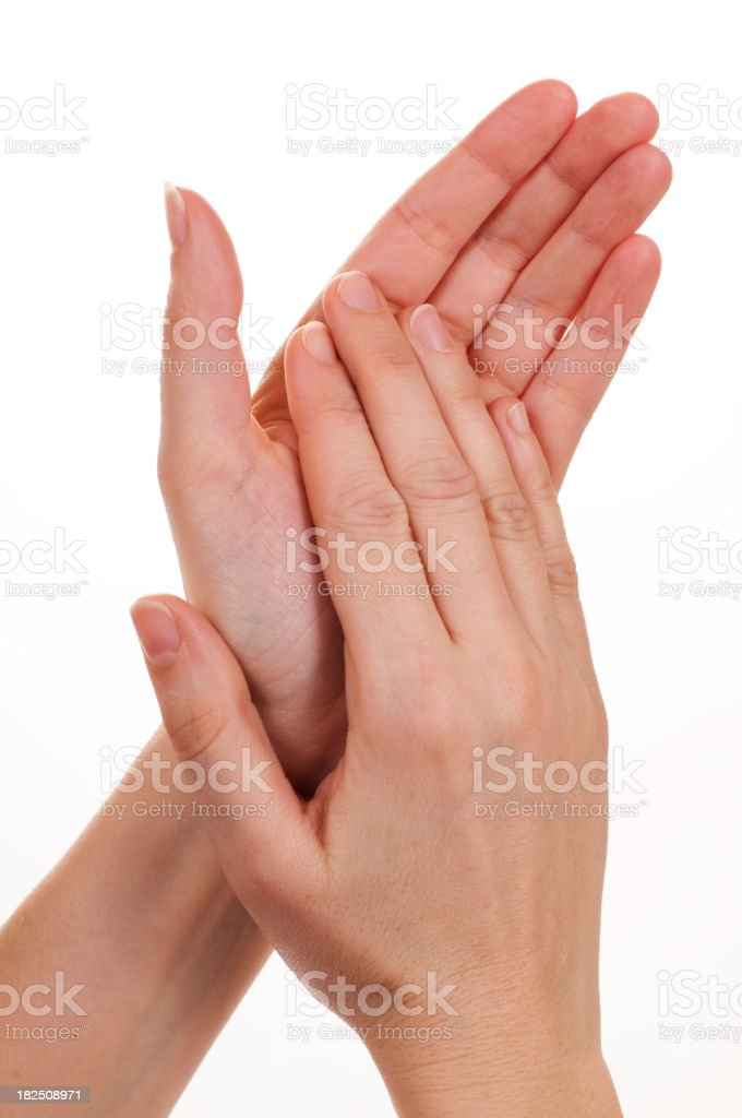 Clapping hands royalty-free stock photo