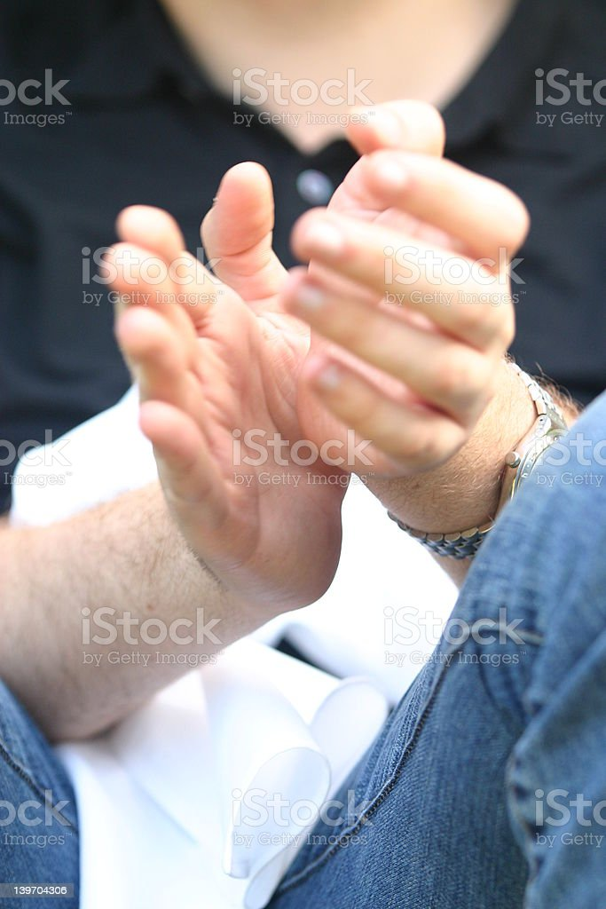 Clapping stock photo
