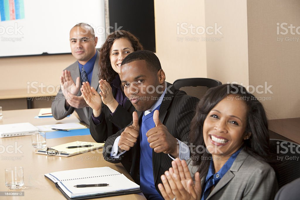 Clapping royalty-free stock photo