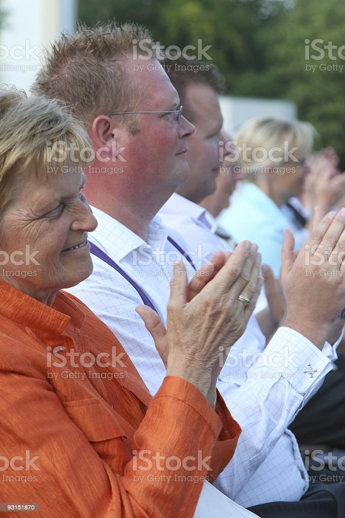 Clapping Spectators royalty-free stock photo