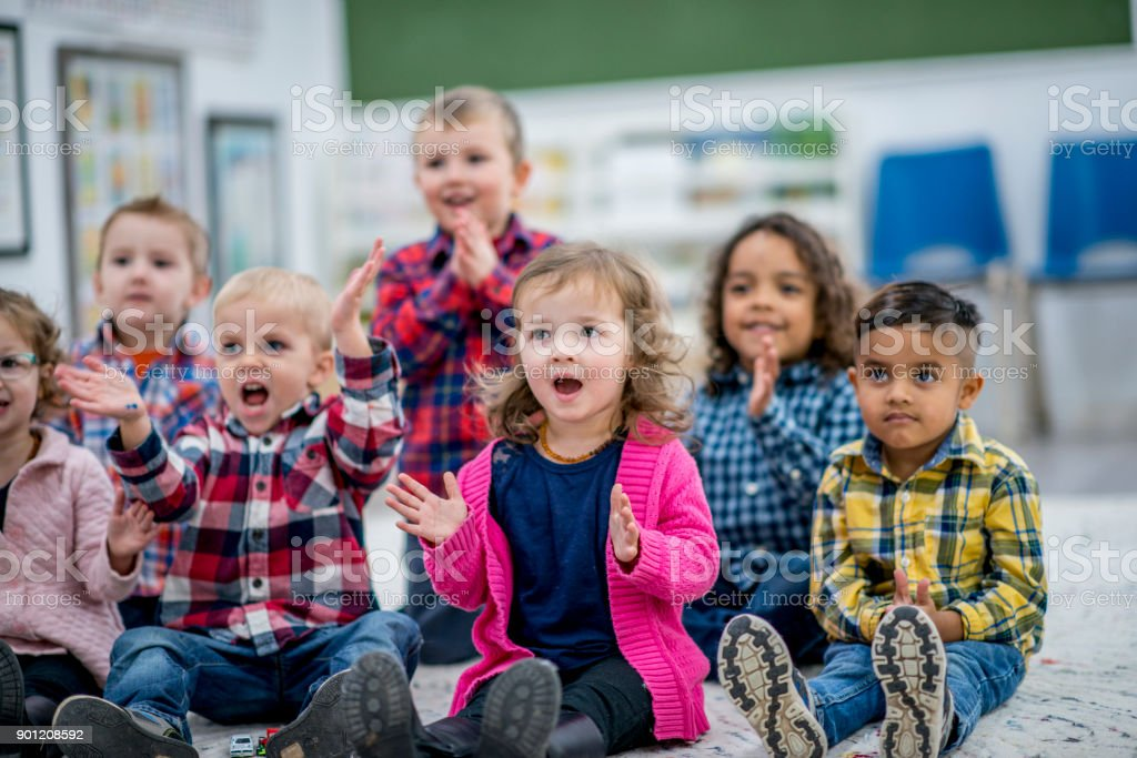 Clapping To A Song stock photo