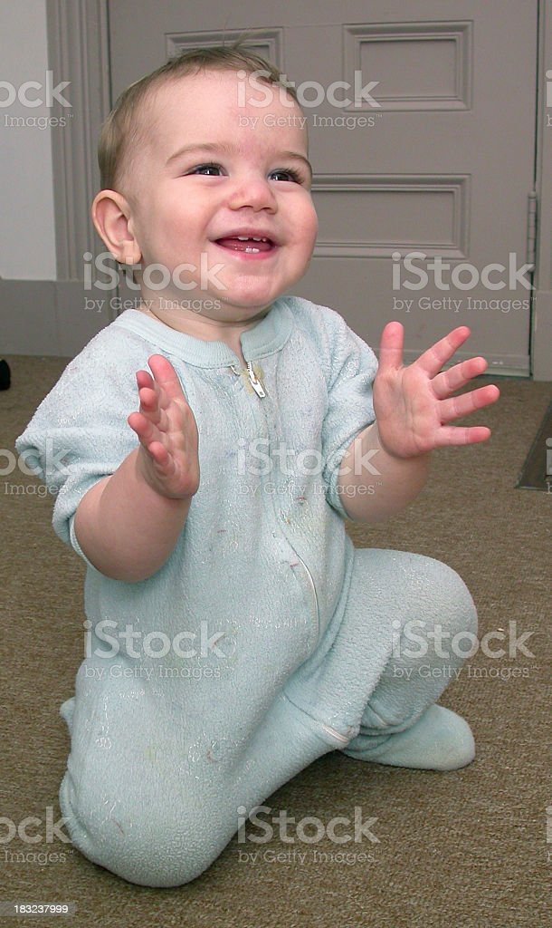 Clapping toddler royalty-free stock photo