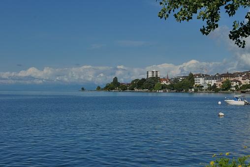 Clarens Quai on lake Geneva