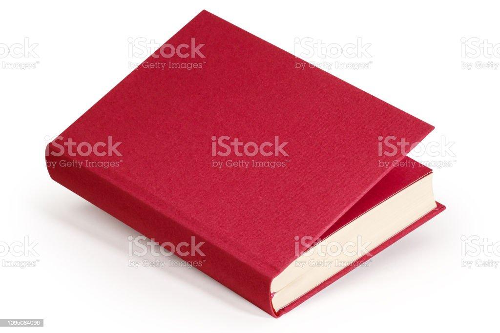 Claret leeres Buch - Clipping-Pfad – Foto