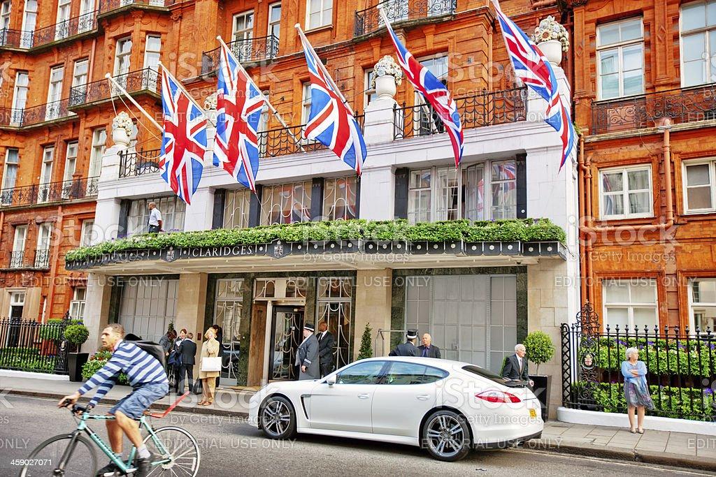 Claridges Hotel in London, Uk royalty-free stock photo