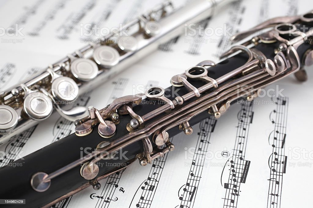Clarinet and Flute royalty-free stock photo