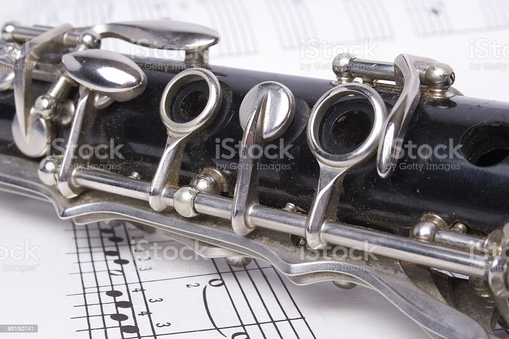 clarinet and music royalty-free stock photo