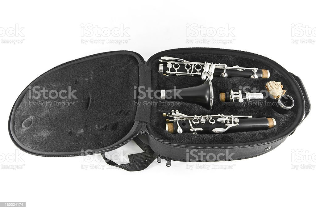 Clarinet in its case royalty-free stock photo