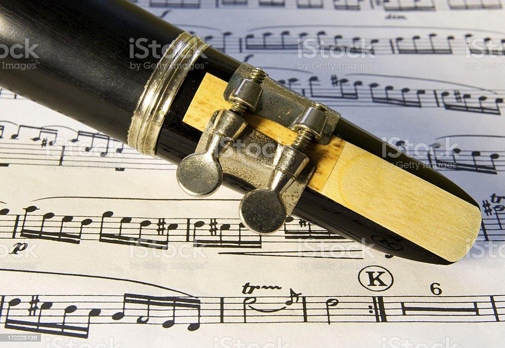 Clarinet reed royalty-free stock photo