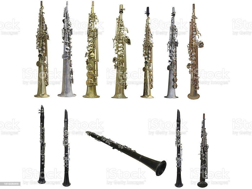 clarinets royalty-free stock photo