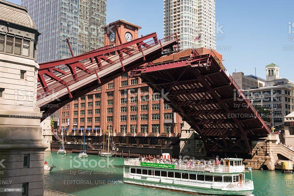 Clark Street Bridge stock photo