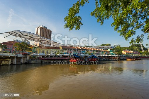 1097482486 istock photo Clarke Quay old port in Singapore 612729188