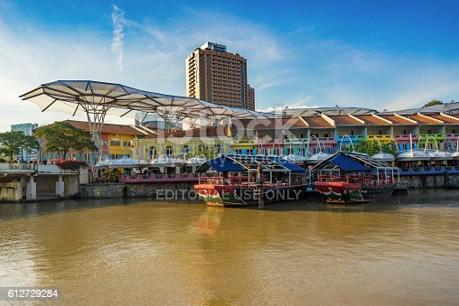1097482486 istock photo Clarke Quay old port in Singapore 612729284